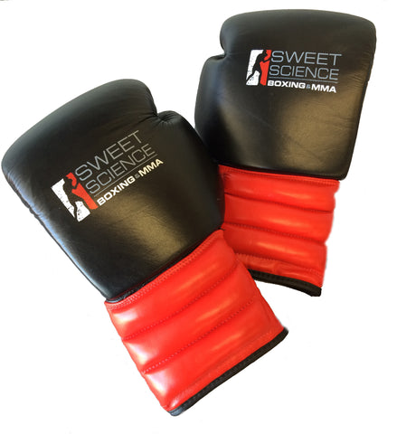 Sweet Science Boxing Pro Style Sparring Gloves - Leather Black/Red - Sweet Science Boxing - 1