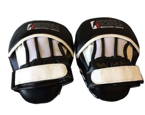 Sweet Science Boxing/Punching Mitts - Curved - Black/White Vinyl - Sweet Science Boxing - 1