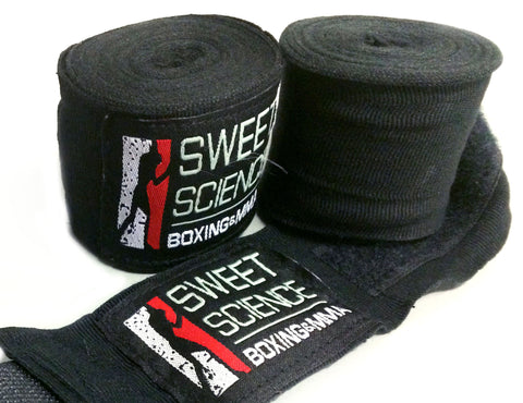 "Sweet Science Boxing Hand Wraps 180"" - Black - Sweet Science Boxing - 1"
