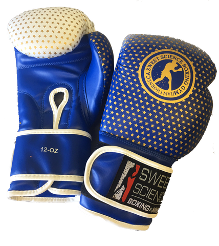 Sweet Science Boxing Gloves Vinyl - Blue/Gold - Sweet Science Boxing - 1
