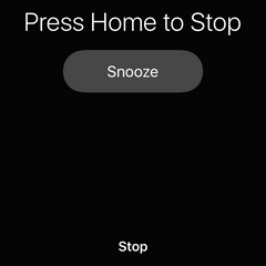 Stop iPhone alarm by hitting home button