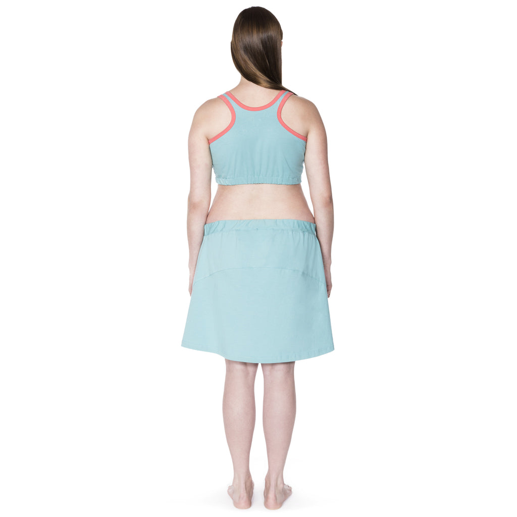 Happy Birthwear Skirt in Aqua (full back)