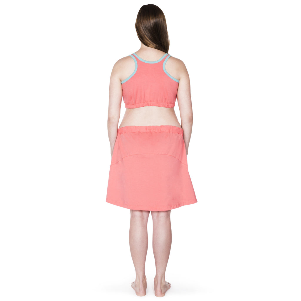 Happy Birthwear Skirt in Coral (full back)