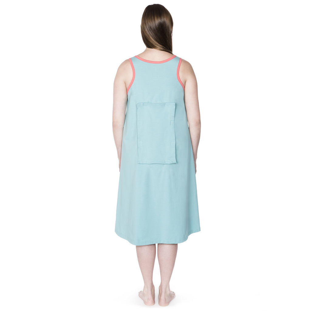 Happy Birthwear Gown in Aqua (back)