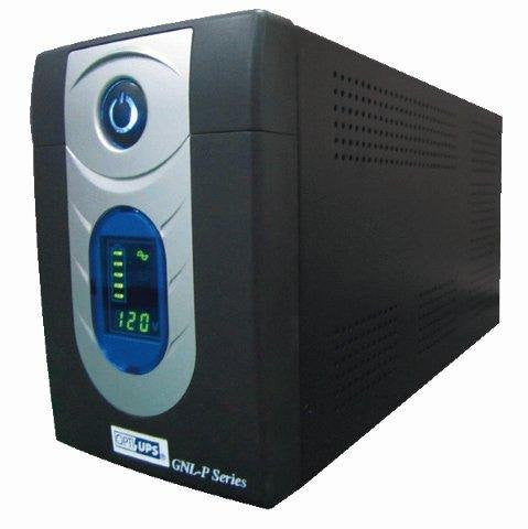GNL1025P (1025VA / 615W) Line Interactive UPS w/ AVR 6-Outlet (4-backup / 2-surge), LCD, USB port, data/phone protection
