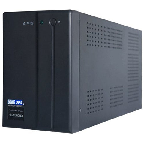 TS1250B (1000VA 600W) Line Interactive UPS w/ AVR 5-outlets, data/phone protection, SERIAL port, data/phone protection