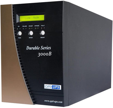 OPTI-UPS DS3000B-2X Durable Series (220v / 230v / 240v) IEC outlets, On-Line tower Uninterruptible Power Supply (2100W, 3000VA) – ONLINE Mission Critical Surge Protection Battery Back Up, CE Certified