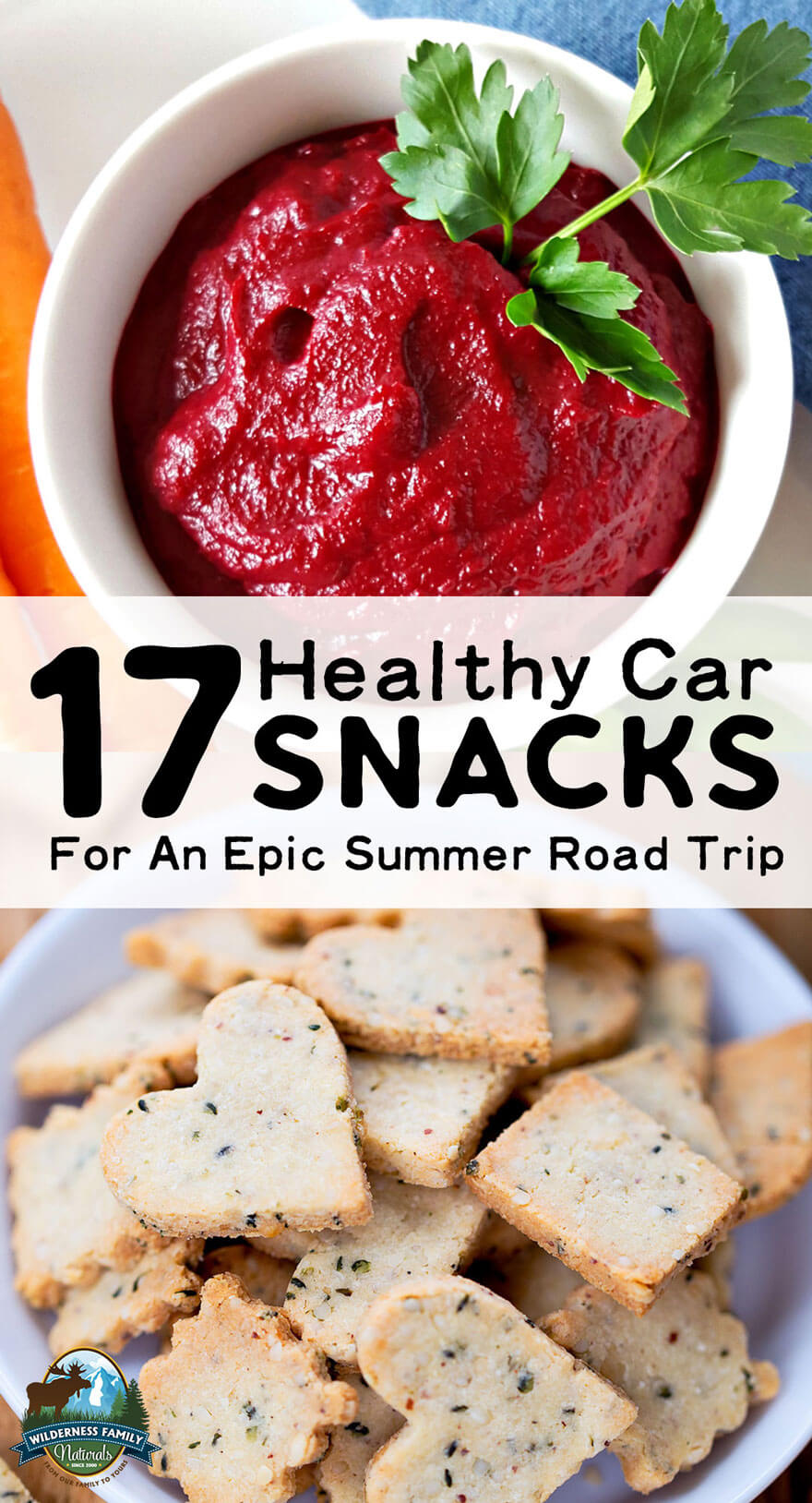 17 Healthy Car Snacks For An Epic Summer Road Trip | We've chosen the best of our nourishing snack recipes so you can load up and enjoy an epic road trip! From protein-packed granolas and sweet treats to salty snacks or veggies and dip, it's all here... and it's all portable! | WildernessFamilyNaturals.com