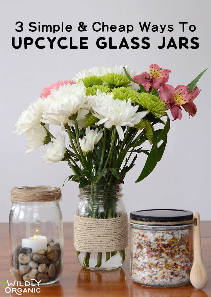 Once you've used all your Wildly Organic coconut oil, don't toss that jar! Wildly Organic uses high-quality glass to store our products, which can be recycled, but also upcycled — even better! Learn 3 simple and cheap ways to upcycle glass jars. Better for your pocketbook and for the planet!