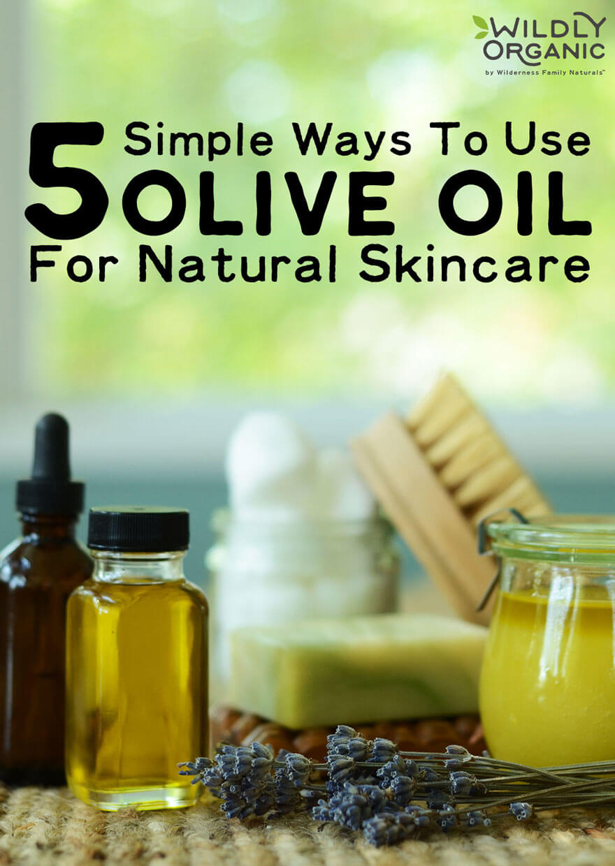 5 Simple Ways To Use Olive Oil For Natural Skincare | You're already using olive oil in your Real Food kitchen, so why not make it work double-duty and use it for skincare as well? Skip overpriced, toxic cleansers, hair treatments, and makeup removers -- here are 5 easy, non-toxic, frugal ways to use olive oil for natural skincare! | WildlyOrganic.com