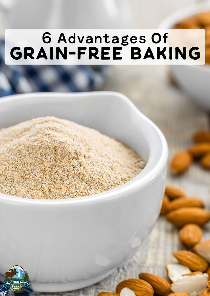 6 Advantages Of Grain-Free Baking | Supposedly there are benefits to a grain-based diet, yet if you talk to those with celiac disease, thyroid issues, or autoimmune disorders, you'll hear a different story. Thankfully, there are other options, especially for healthy baking! Learn the advantages of grain-free baking here! | WildernessFamilyNaturals.com