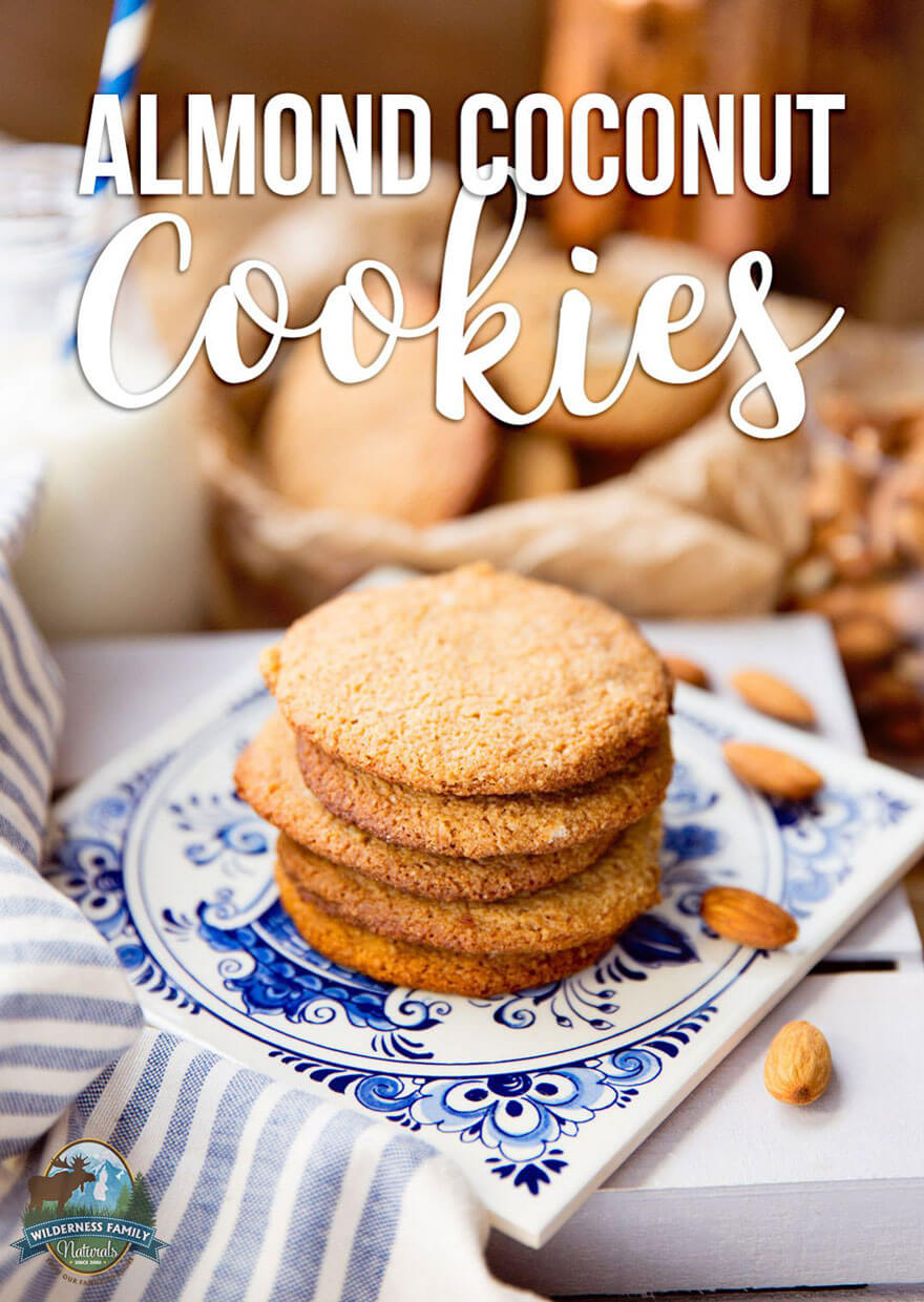 Almond Coconut Cookies   They are soft and chewy, with a melt-in-your-mouth texture; satisfying but not full of refined sugar. And on top of all that, these healthy Almond Coconut Cookies are Paleo, too!   WildernessFamilyNaturals.com