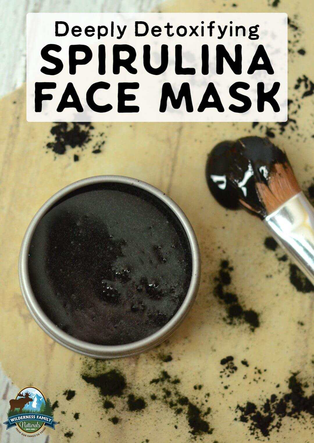 Deeply Detoxifying Spirulina Face Mask | Draw impurities from the skin, fight acne, and even brighten your complexion with this deeply detoxifying spirulina face mask! With raw honey, activated charcoal, and superfood spirulina, this is natural skincare done right! | WildernessFamilyNaturals.com