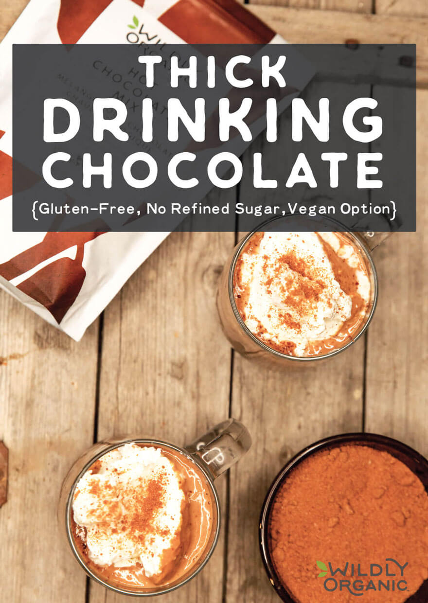 Thick Drinking Chocolate {Gluten-Free, No Refined Sugar, Vegan Option}