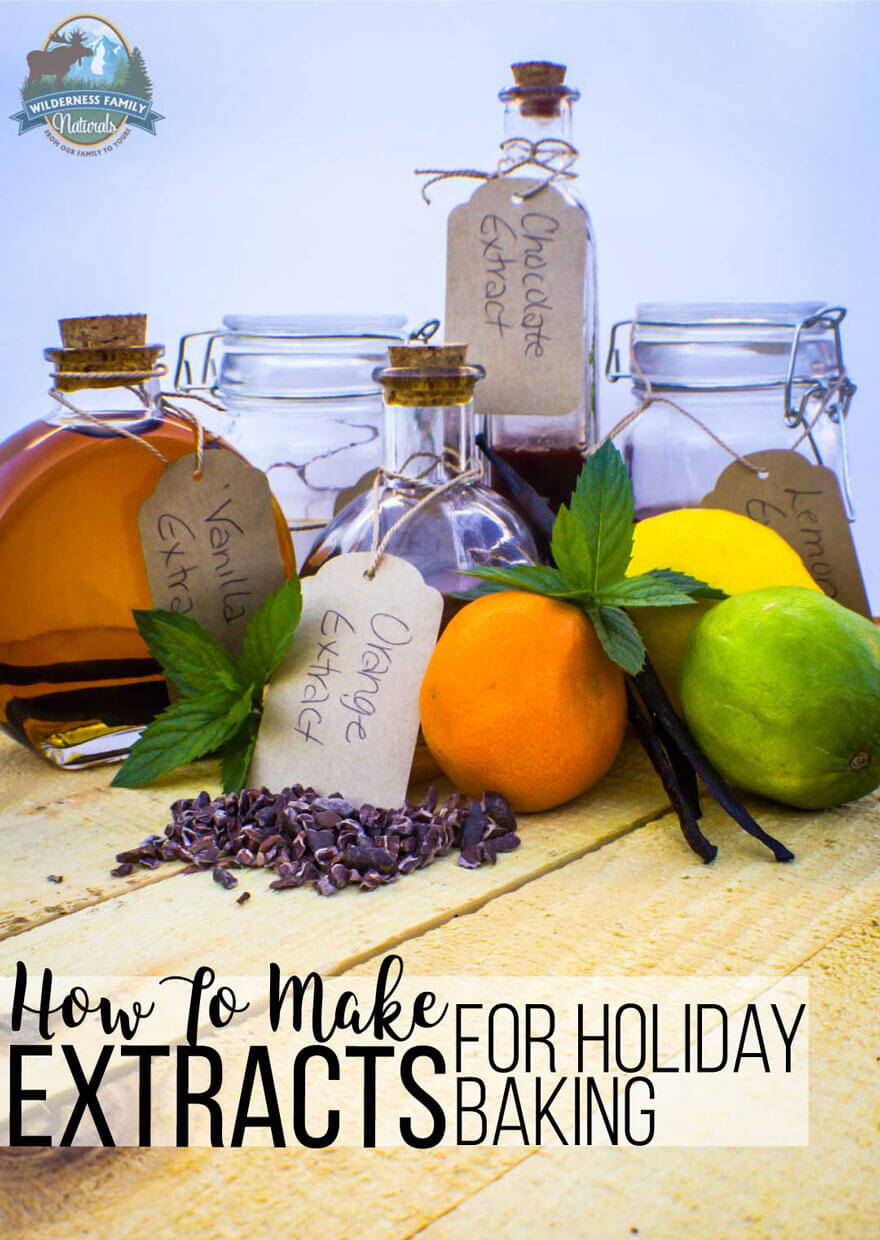 How To Make Extracts For Holiday Baking | Holiday baking means using lots of different extracts to flavor your delicious creations. Skip the expensive commercial extracts that are full of artificial flavoring and corn syrup and make homemade extracts instead! | WildernessFamilyNaturals.com