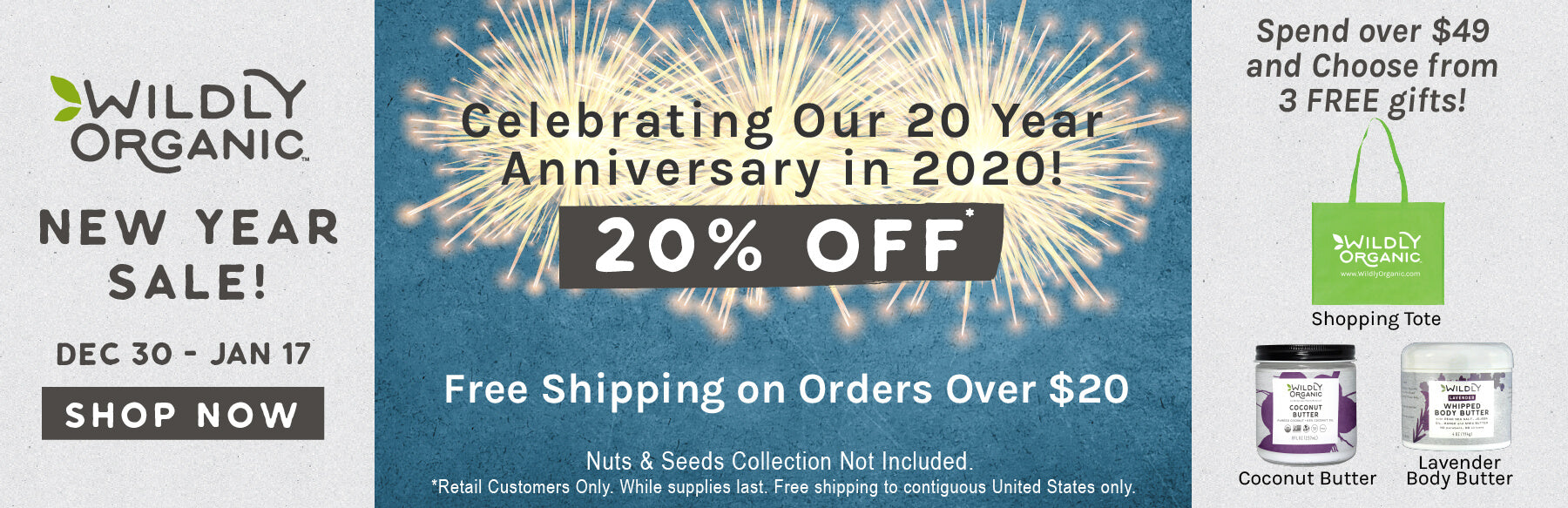 A Wildly Organic New Year Sale!
