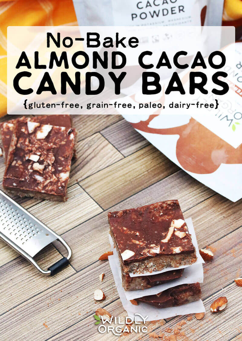 Photo of No-Bake Almond Cacao Candy Bars | These no-bake almond cacao candy bars are simple to whip up and have the flavor of a classic candy bar. Instead of giving yourself a sugar high, they're made with natural sugars and real food ingredients which will help you stay filled and fueled. #glutenfree #grainfree #chocolate #paleo #dairyfree #realfood #allergyfriendly