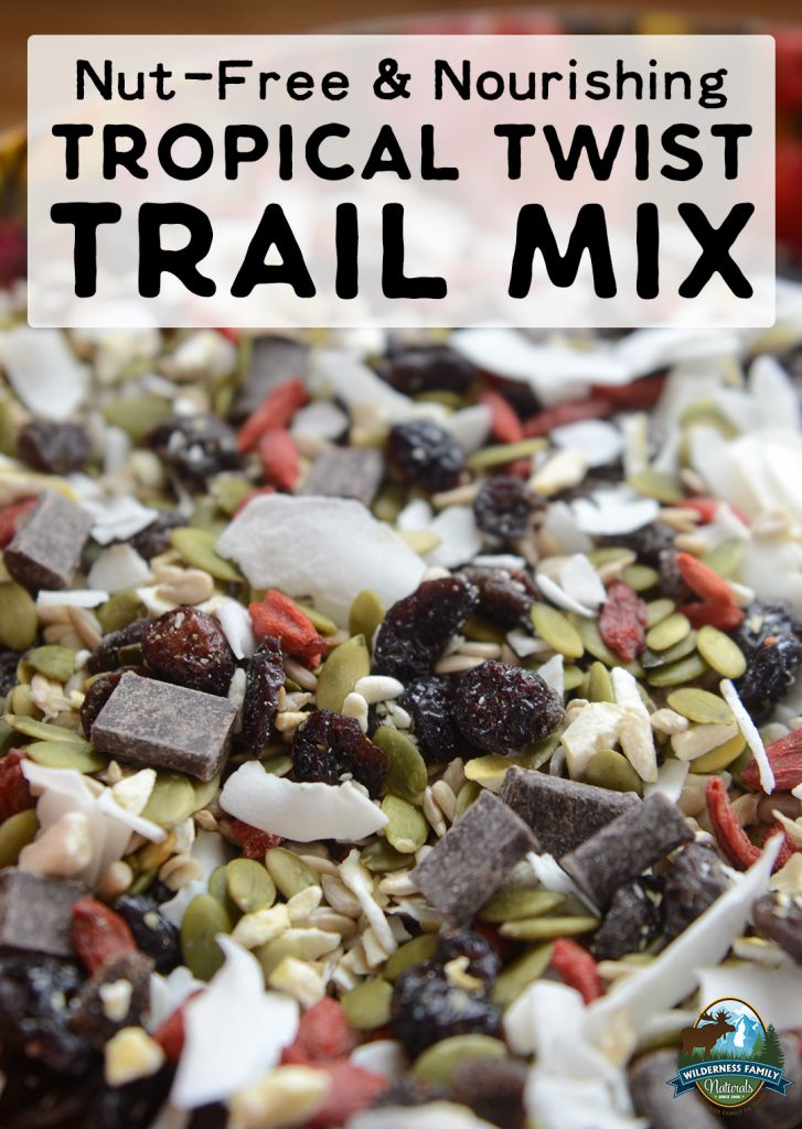 nut-free trail mix with a tropical twist recipee