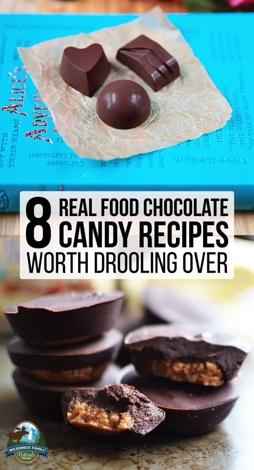 "8 Real Food Chocolate Candy Recipes Worth Drooling Over | Charles Schultz wisely stated, ""All you need is love. But a little chocolate now and then doesn't hurt."" The ingredients in these real food chocolate candies won't make you squirm because they're all REAL: real raw cacao, real cacao butter, real fruit, real nuts, and real whole sweeteners! 