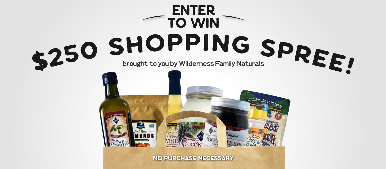 Win A $250 Shopping Spree! - Wilderness Family Naturals