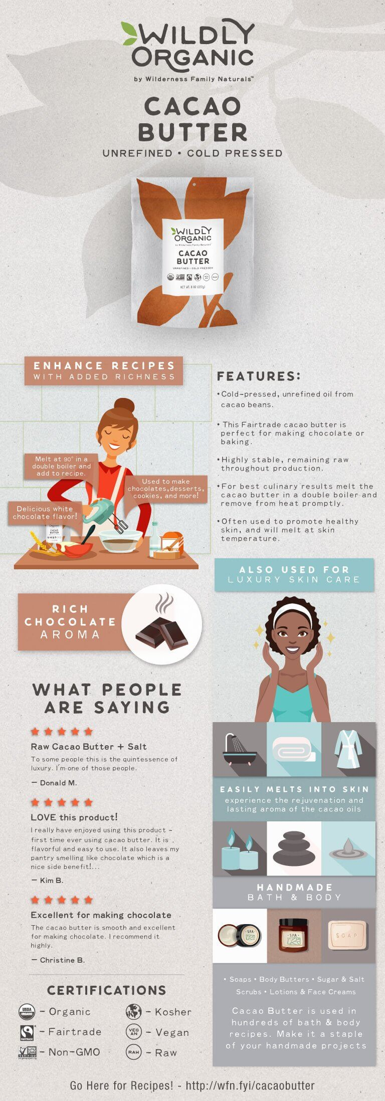 Learn about cacao butter!