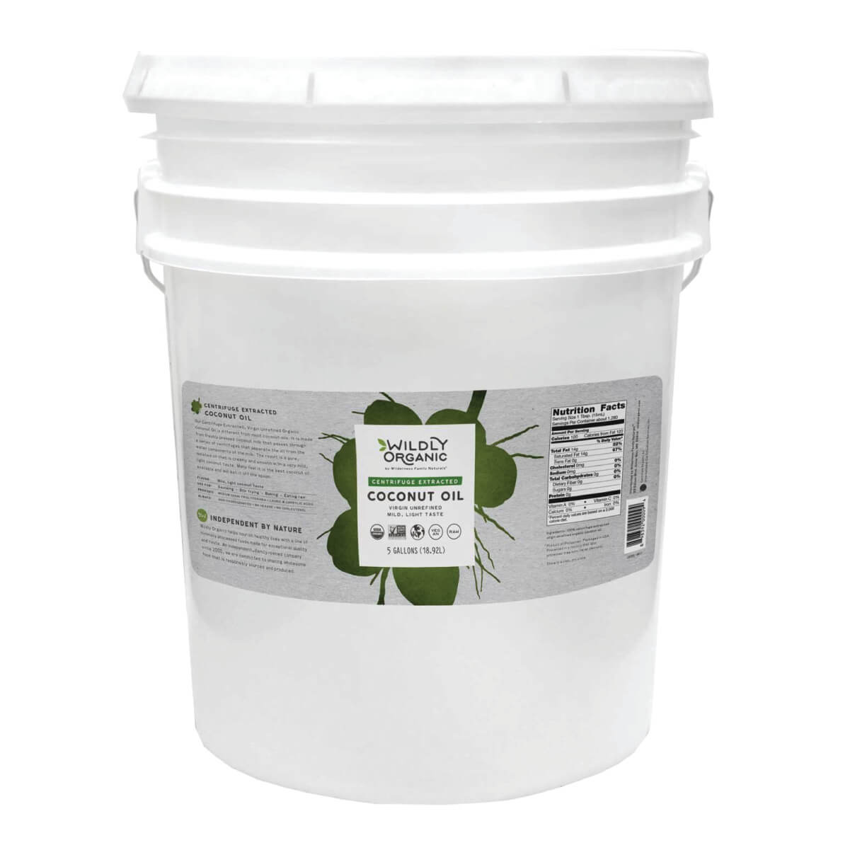 Centrifuge Extracted Coconut Oil   Virgin Unrefined 5 Gallons