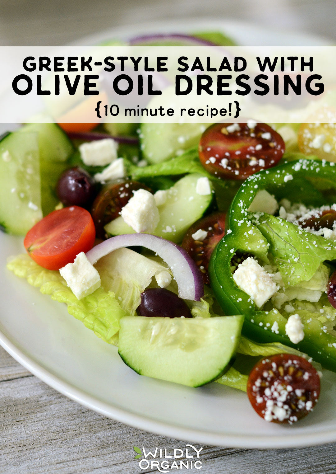 Photo of Greek-Style Salad with Olive Oil Dressing