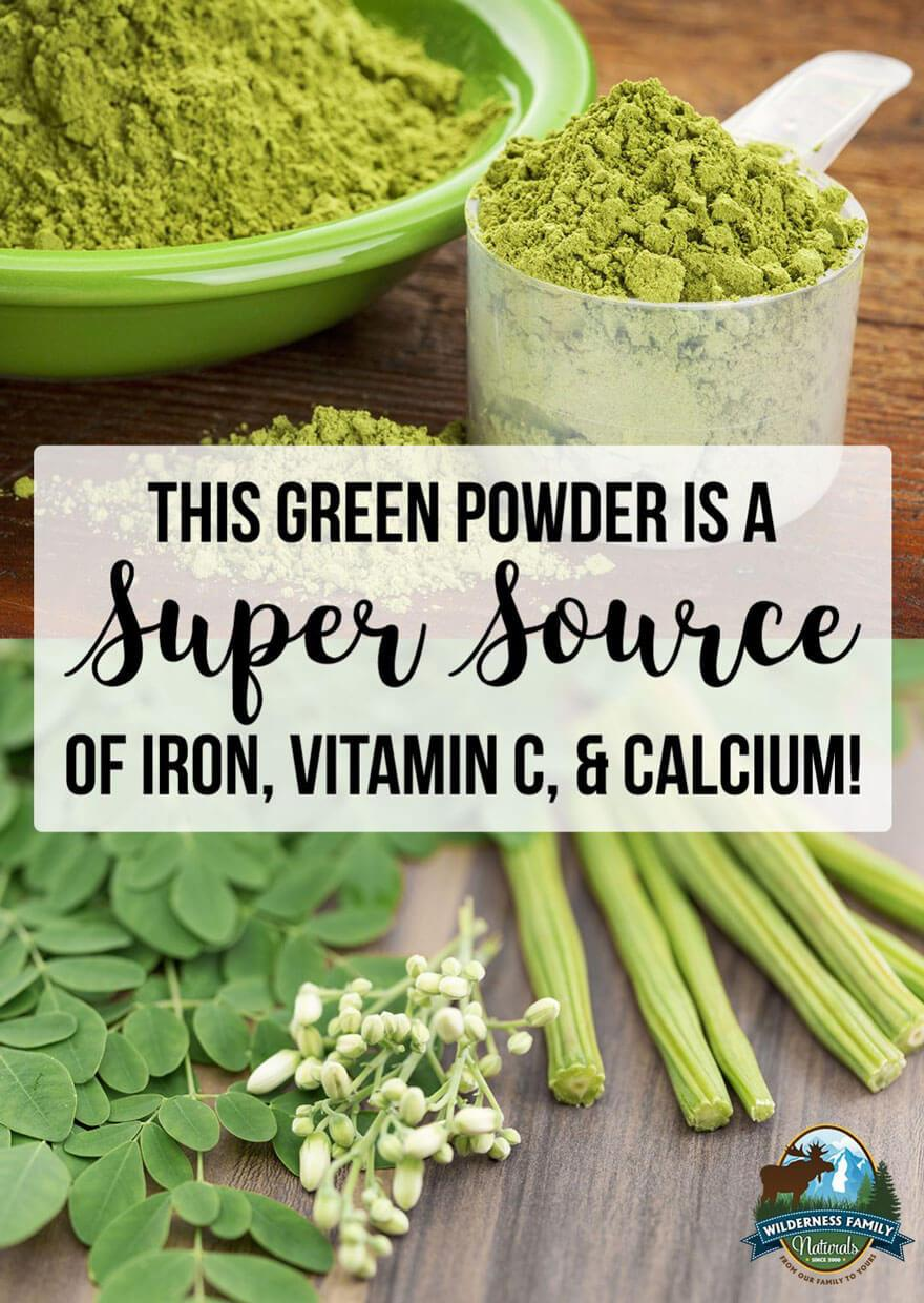 This Green Powder Is A Super Source of Iron, Vitamin C, & Calcium!