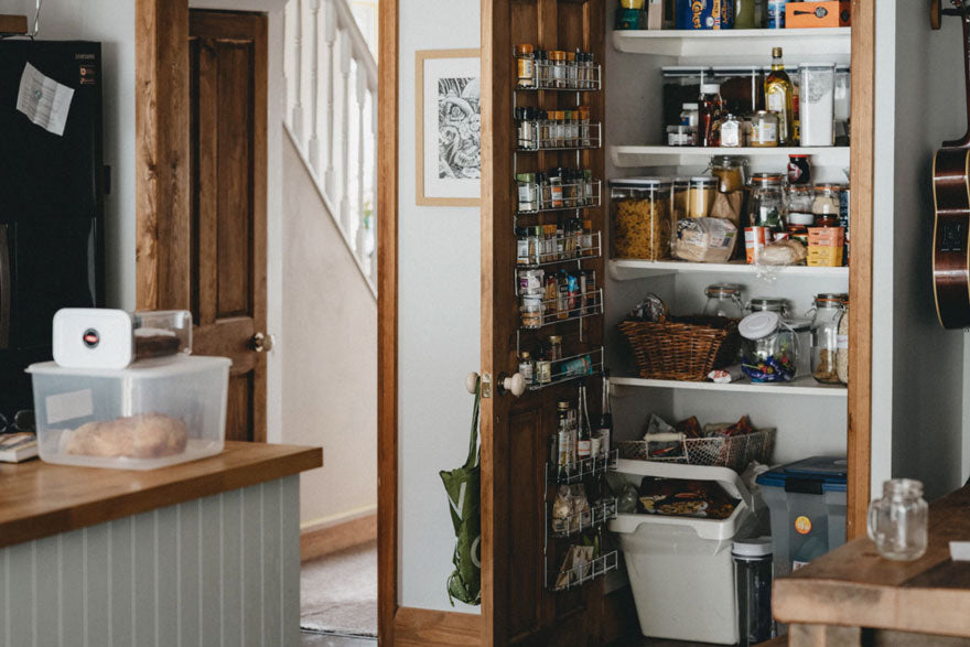 full pantry in kitchen