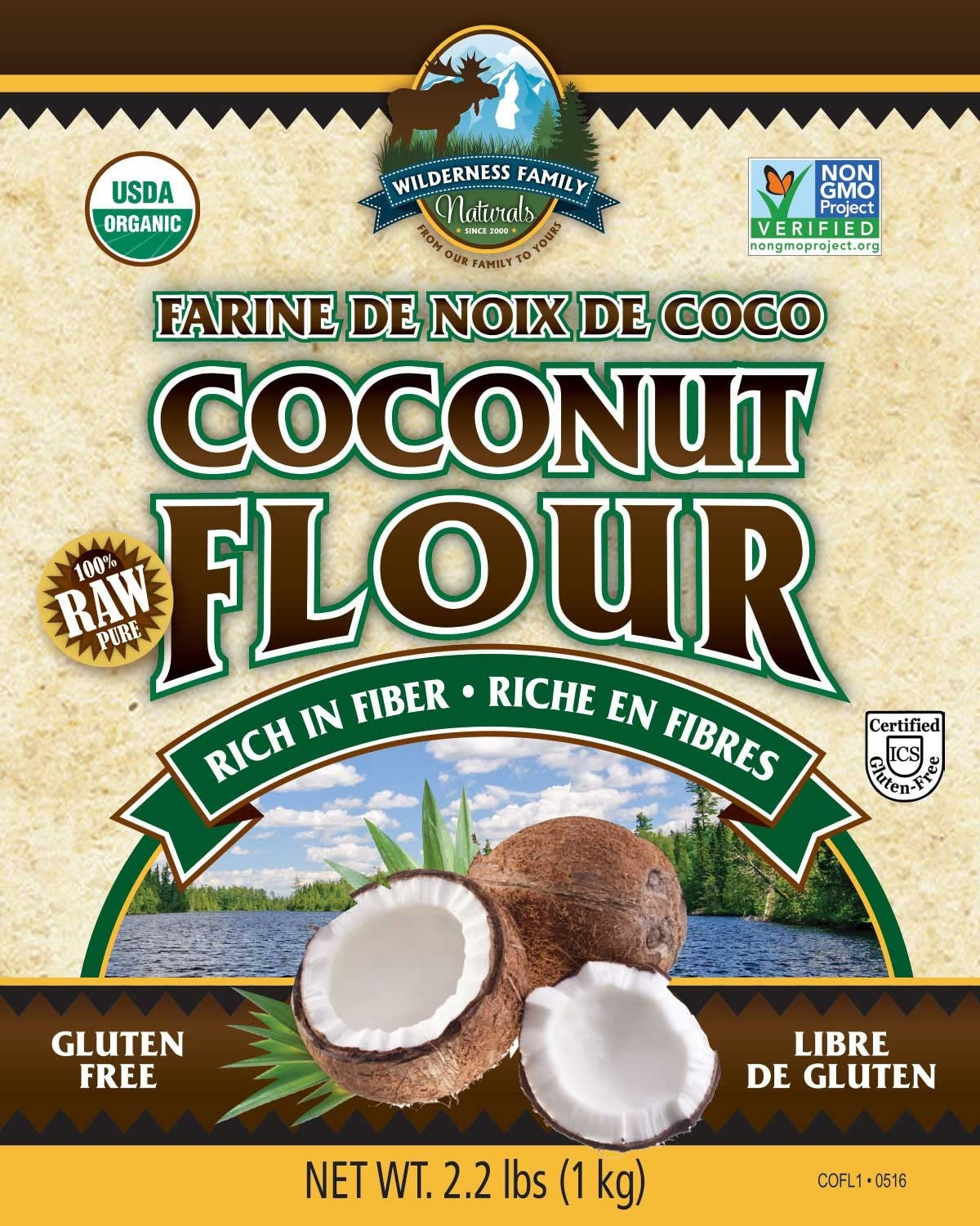 Raw Organic Coconut Flour