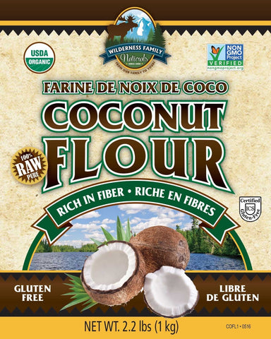 Coconut Flour/Fiber, Certified Organic, Raw - Wilderness Family Naturals