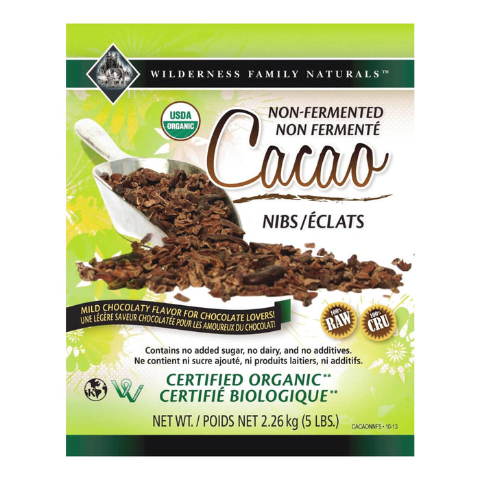 Cacao : Cacao Nibs - Non-Fermented Cacao Nibs | Organic