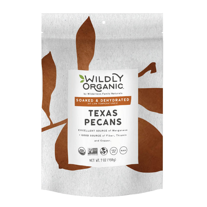 Nuts, Raw, Soaked and Dried, Certified Organic, Pecans