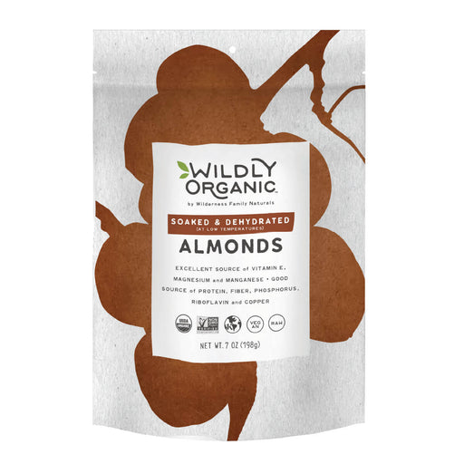 Nuts, Soaked and Dried, Certified Organic, Almonds, Californian
