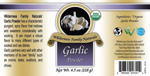 Herbs & Spices : Spices & Seasonings - Organic Garlic | Powder
