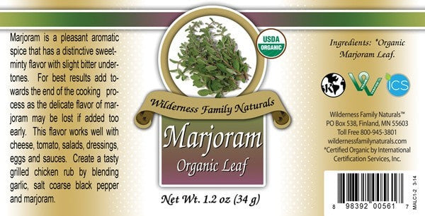 Herbs & Spices : Spices & Seasonings - Organic Marjoram Leaf | Whole