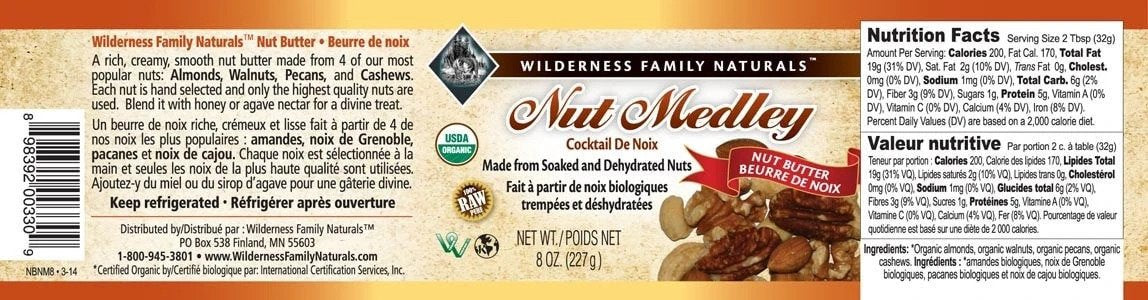 Pantry : Nut Butters - Nut Medley Nut Butter | Organic | Raw