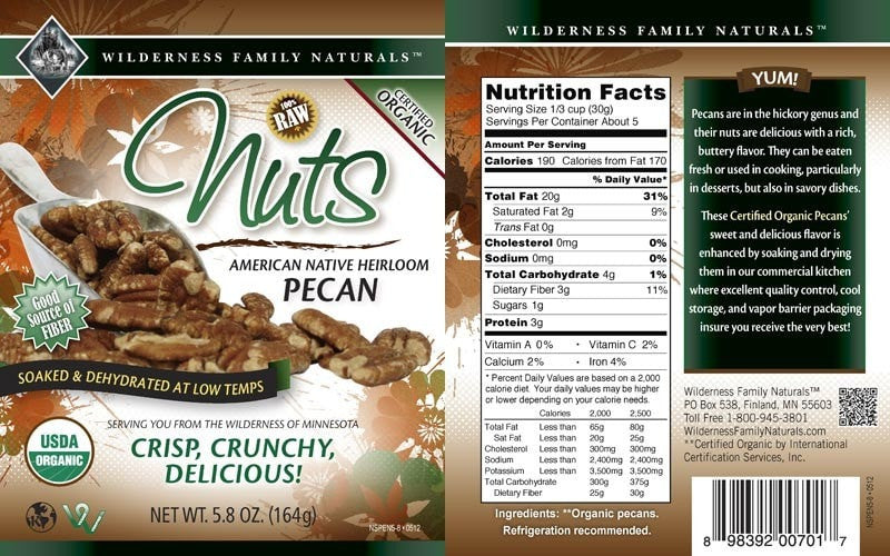 Nuts : Soaked and Dehydrated Nuts - Native Pecans | Organic | Raw