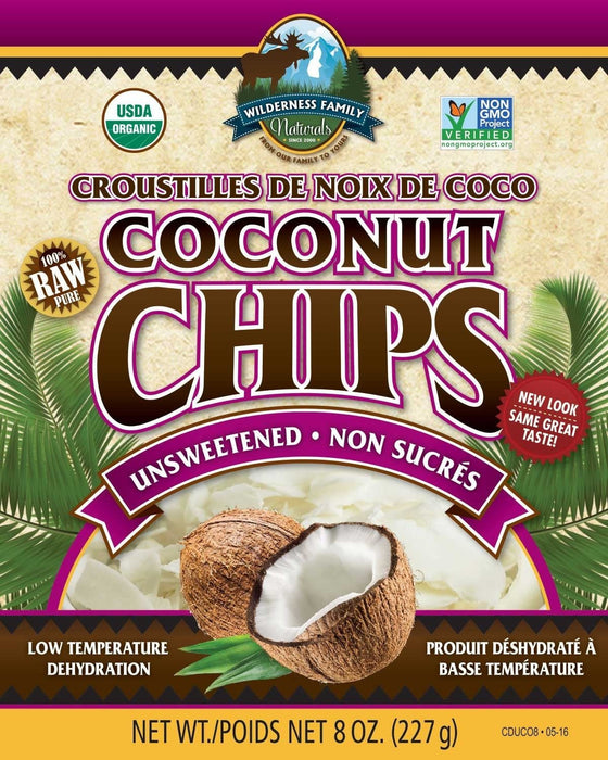 Coconut : Coconut Flakes/Chips - Organic Coconut Chips