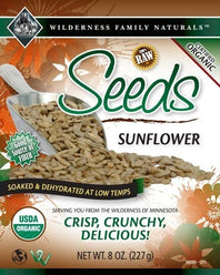Nuts, Raw, Soaked & Dried, Certified Organic, Sunflower Seeds - Select Options