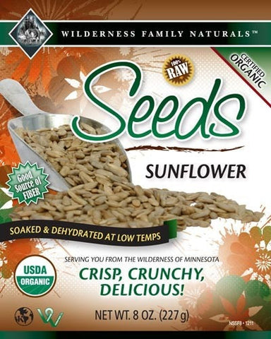 Nuts, Raw, Soaked & Dried, Certified Organic, Sunflower Seeds - Wilderness Family Naturals