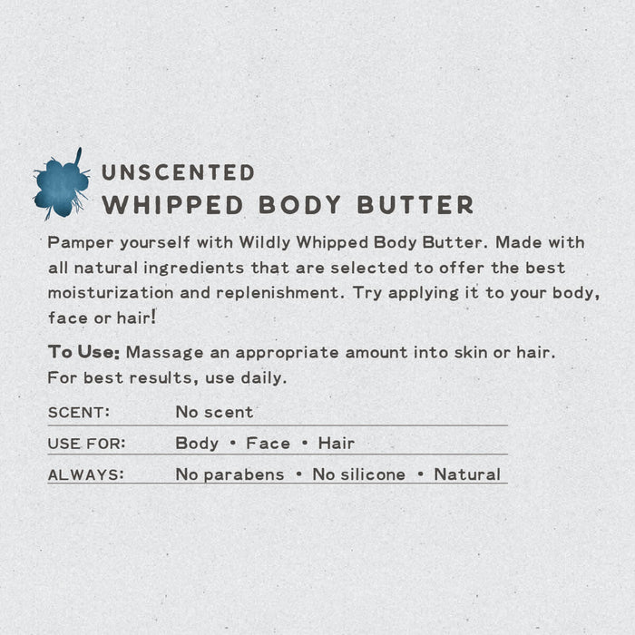 Unscented Whipped Body Butter | Natural