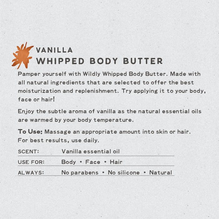 Vanilla Whipped Body Butter | Natural