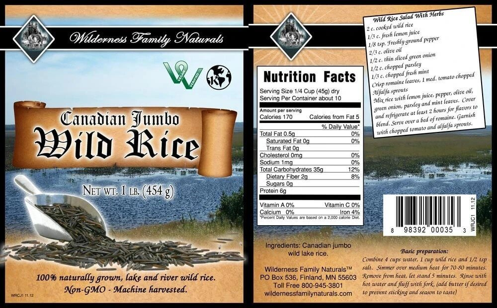 Canadian Lake Jumbo Wild Rice