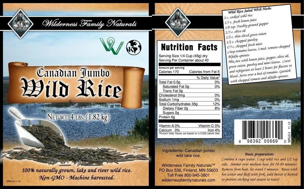 Pantry : Rice and Grains - Canadian Lake Jumbo Wild Rice