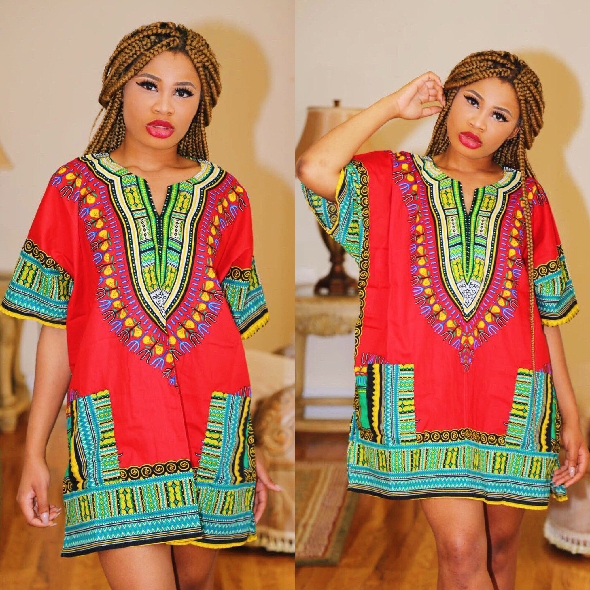 "Red Alt Dashiki"" (UNISEX)"