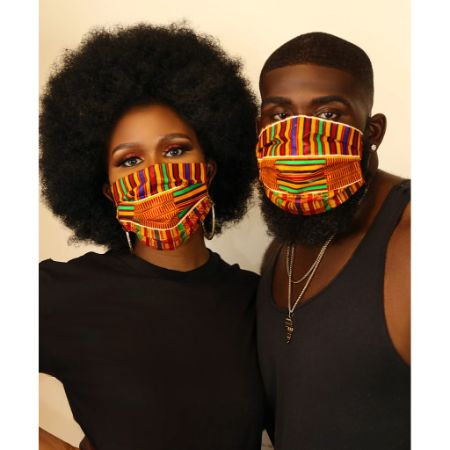 Kente kube face mask (unisex)