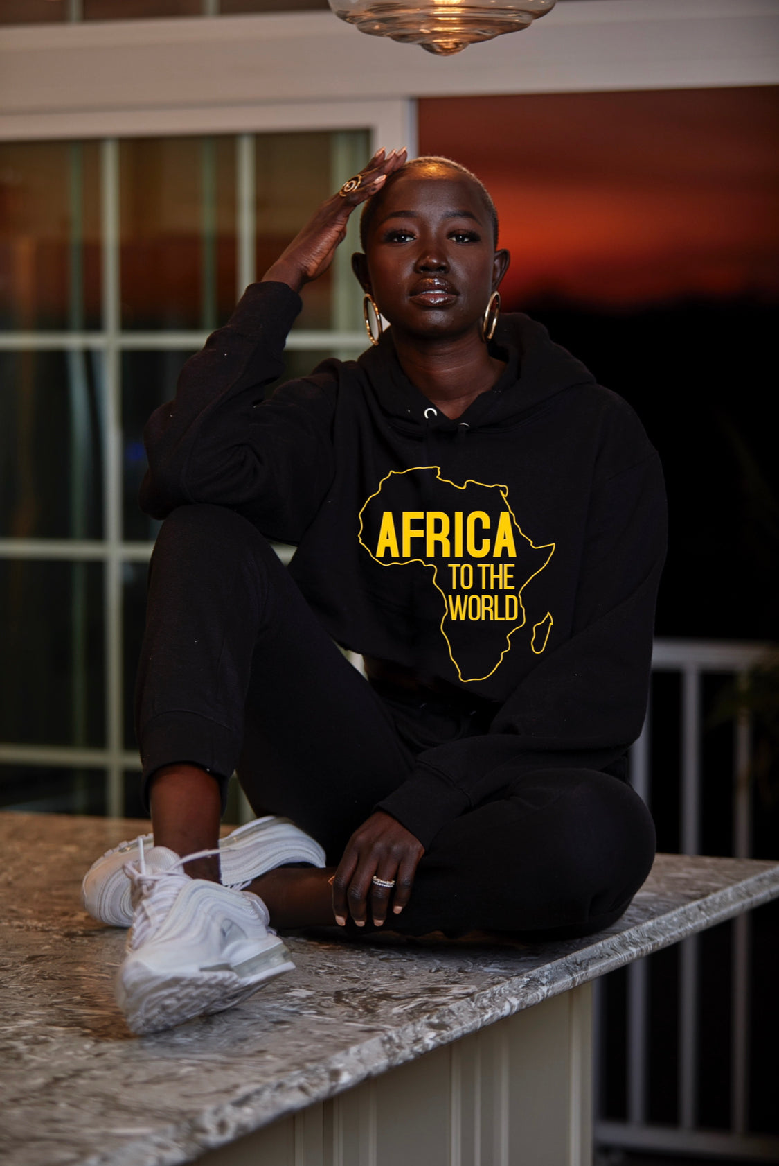 Africa to the world unisex sweater