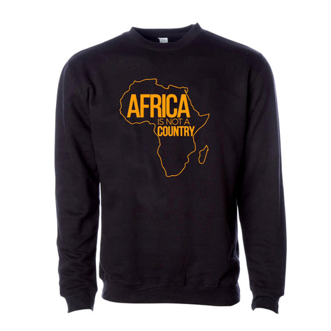 Africa is not a country unisex sweater (black)