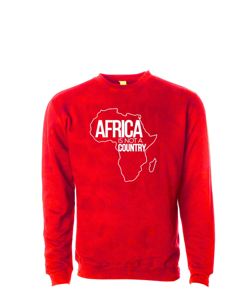 Africa is not a country unisex sweater (red)